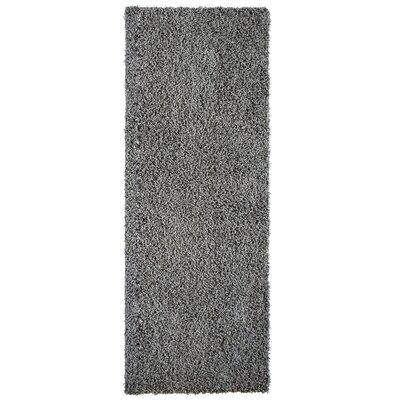 Shag-Ola Charcoal Area Rug Rug Size: Runner 2 x 8