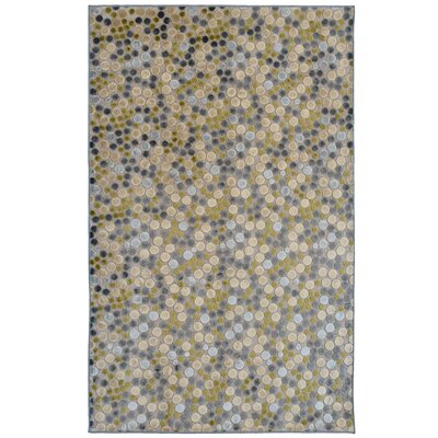 Downton Grey Indoor/Outdoor Area Rug Rug Size: 5 x 76