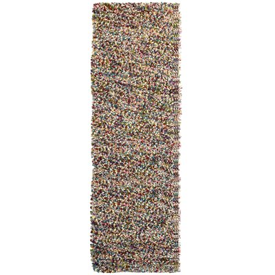 Carida Fiesta Brown/Green/Brown Area Rug Rug Size: Runner 26 x 8
