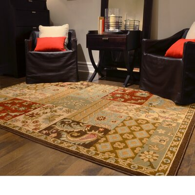 Patchwork Red Area Rug Rug Size: 32 x 5