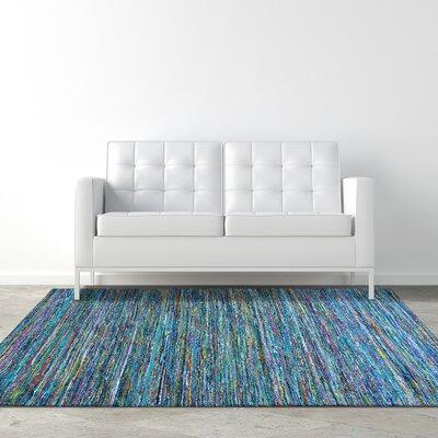 Silky Flat Weave Hand-Woven Jewel Area Rug Rug Size: 5 x 76
