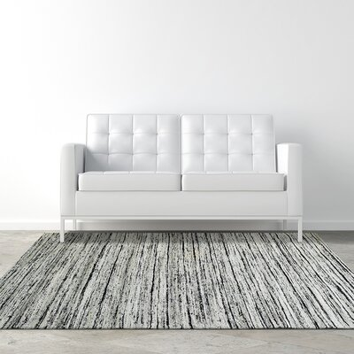 Silky Flat Weave Silver Area Rug Rug Size: 5 x 76