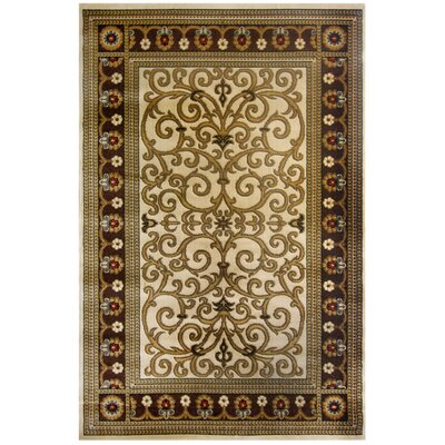 Windsor Chocolate Area Rug Rug Size: 53 x 76