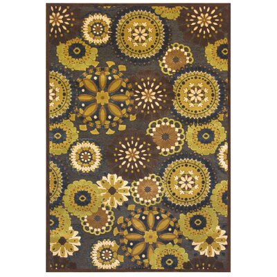 Sunchine Chocolate/Yellow Rug Rug Size: 4 x 6