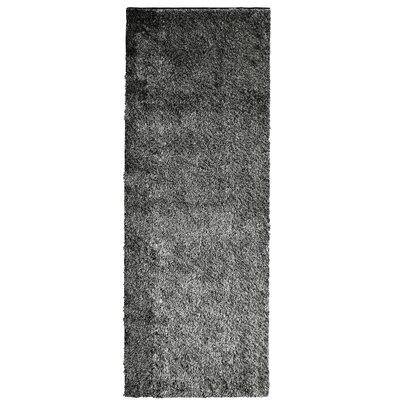 Metro Silk Salt and Pepper Area Rug Rug Size: Runner 26 x 8