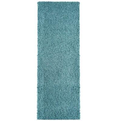 Modern Shag Blue Area Rug Rug Size: 8 x 10