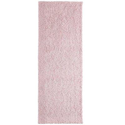 Modern Pink Blush Shag Area Rug Rug Size: Runner 2 x 8
