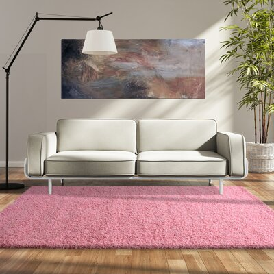 Modern Shag Flamingo Area Rug Rug Size: 4 x 6