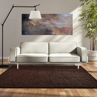 Modern Hazelnut Shag Area Rug Rug Size: 4 x 6