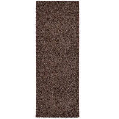 Modern Hazelnut Shag Area Rug Rug Size: Runner 2 x 8