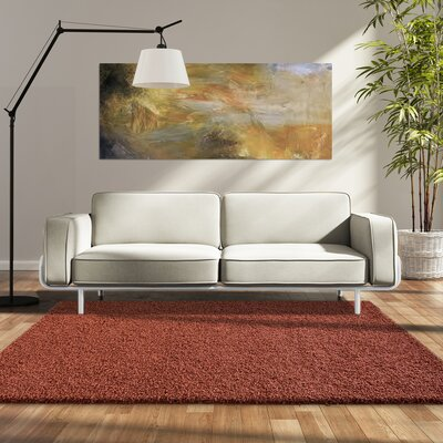 Modern Shag Orange Area Rug Rug Size: 8 x 10