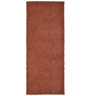 Modern Shag Orange Area Rug Rug Size: Runner 26 x 8