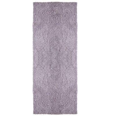 Modern Shag Purple Area Rug Rug Size: Runner 26 x 8