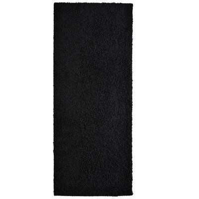 Modern Shag Black Area Rug Rug Size: Runner 26 x 8