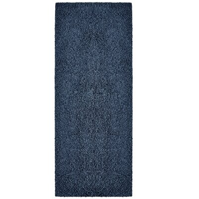 Modern Shag Blue Sailor Area Rug Rug Size: Runner 26 x 8