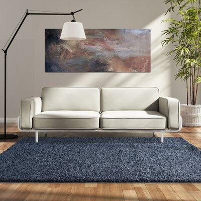 Modern Shag Blue Sailor Area Rug Rug Size: 9 x 12