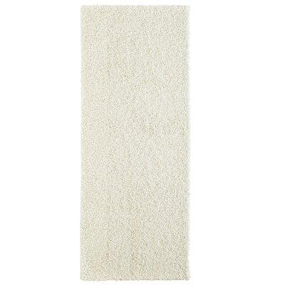 Modern Shag White Area Rug Rug Size: Runner 26 x 8