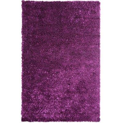 Petal Shag Purple Area Rug Rug Size: 4 x 6