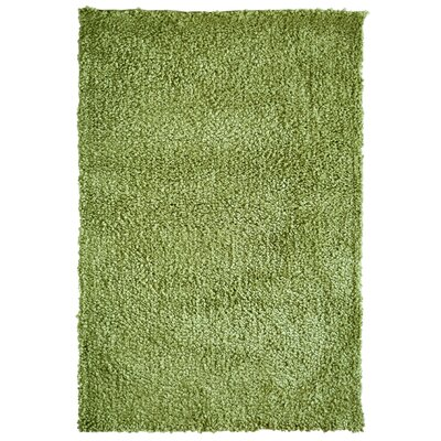 Downy Shag Green Area Rug Rug Size: 8 x 10