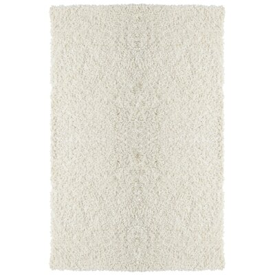 Downy Shag White Area Rug Rug Size: 3 x 46