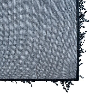 Dragonfly Shag Hand-Woven Black Area Rug Rug Size: 6 x 9