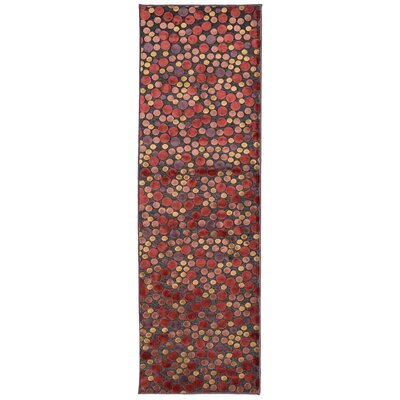 Downton Burgundy Area Rug Rug Size: Runner 26 x 8