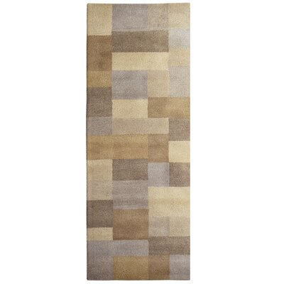Madrid Wool Beige Area Rug Rug Size: Runner 26 x 8