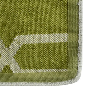 Diamond Hand-Woven Green Area Rug Rug Size: 8 x 10