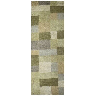Madrid Wool Green Area Rug Rug Size: Runner 26 x 8