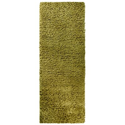 Saturn Hand-Woven Wool Green Area Rug Rug Size: Runner 26 x 8