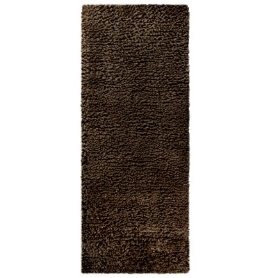 Saturn Wool Hndmade Brown Area Rug Rug Size: Runner 26 x 8