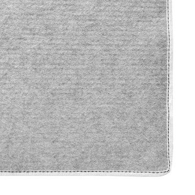 Shag-Ola White Area Rug Rug Size: 8 x 10