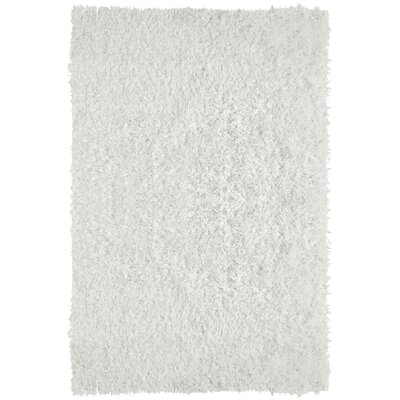 City Shag White Area Rug Rug Size: 5 x 76