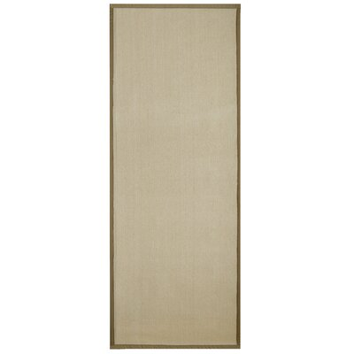 Marica Synthetic Sisal Gold Area Rug Rug Size: Runner 2' x 8'