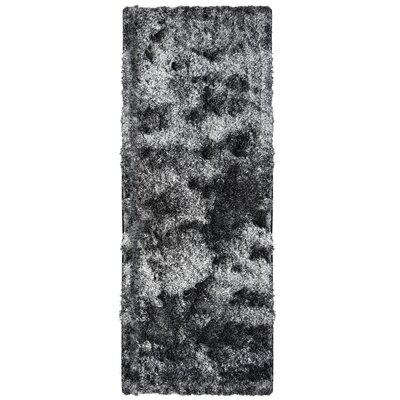 Neptune Calling Hand-Tufted Black/White Area Rug Rug Size: Runner 26 x 8