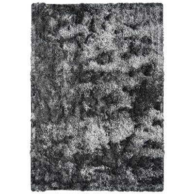 Neptune Calling Hand-Tufted Black/White Area Rug Rug Size: Rectangle 4 x 6
