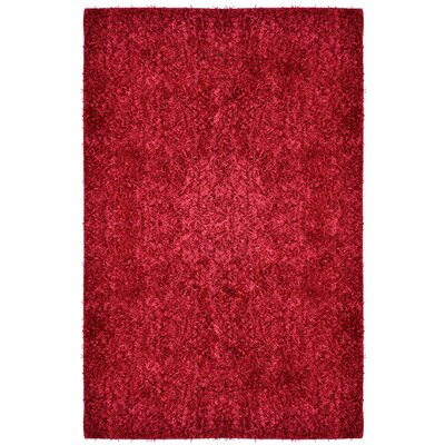 City Shag Red Area Rug Rug Size: 5 x 76