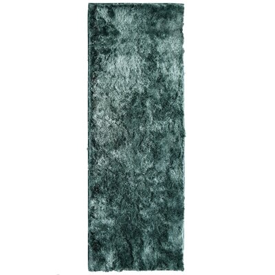 Moonlight Path Hand-Tufted Blue Area Rug Rug Size: Runner 26 x 8