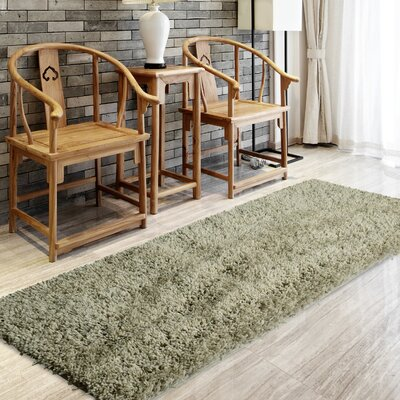 Soft Shag Grey Area Rug Rug Size: Rectangle 9 x 12