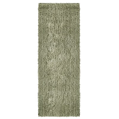 Soft Shag Grey Area Rug Rug Size: Runner 26 x 8