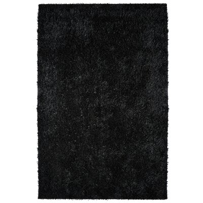 City Shag Black Area Rug Rug Size: 8 x 10