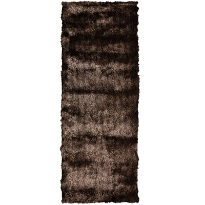 Moonlight Path Chocolate Area Rug Rug Size: Runner 26 x 8