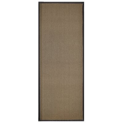 Marica Synthetic Sisal Chocolate Area Rug Rug Size: Runner 2 x 8