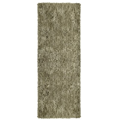 Soft Shag Taupe Area Rug Rug Size: Runner 26 x 8