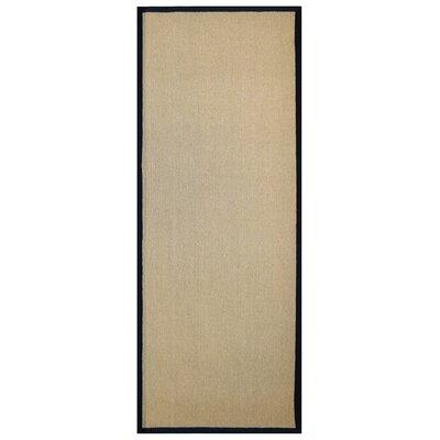 Marica Synthetic Sisal Black Area Rug Rug Size: Runner 2 x 8