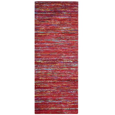 Sari Festival Purple/Green/Yellow Area Rug Rug Size: Runner 2 x 8