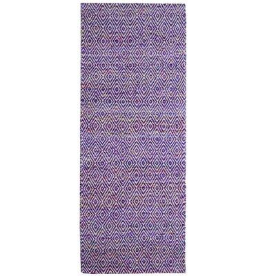 Agrippa Grape Purple Area Rug Rug Size: Runner 26 x 8