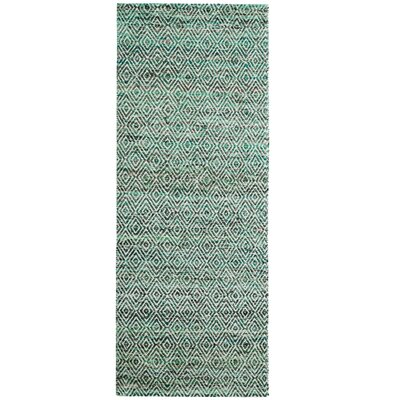 Agrippa Jungle Green Area Rug Rug Size: Runner 26 x 8