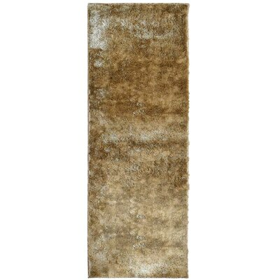 Metro Silk Gold Area Rug Rug Size: Runner 26 x 8
