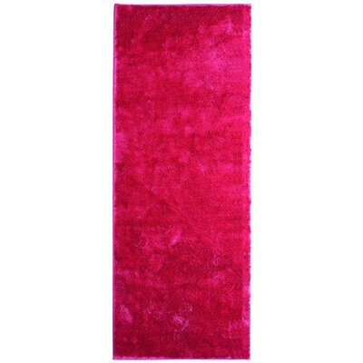 Metro Silk Hot Pink Area Rug Rug Size: Runner 26 x 8